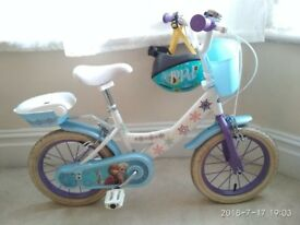 14'' Wheel Lovely Disney's Frozen Girls Bicycle with Auxiliary Wheels