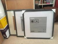 3x IKEA RIBBA 50x50 cm Frames - Black