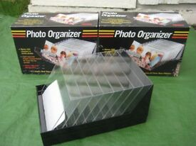 Two Brand New Clear Plastic Photograph Organizers for £3.00