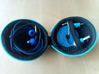 Hard Storage Case With Headset & Micro USB Cable Blue