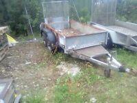 Ifor williams 8x4 plant trailer