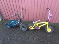2 x kids rockers mini bmx bikes