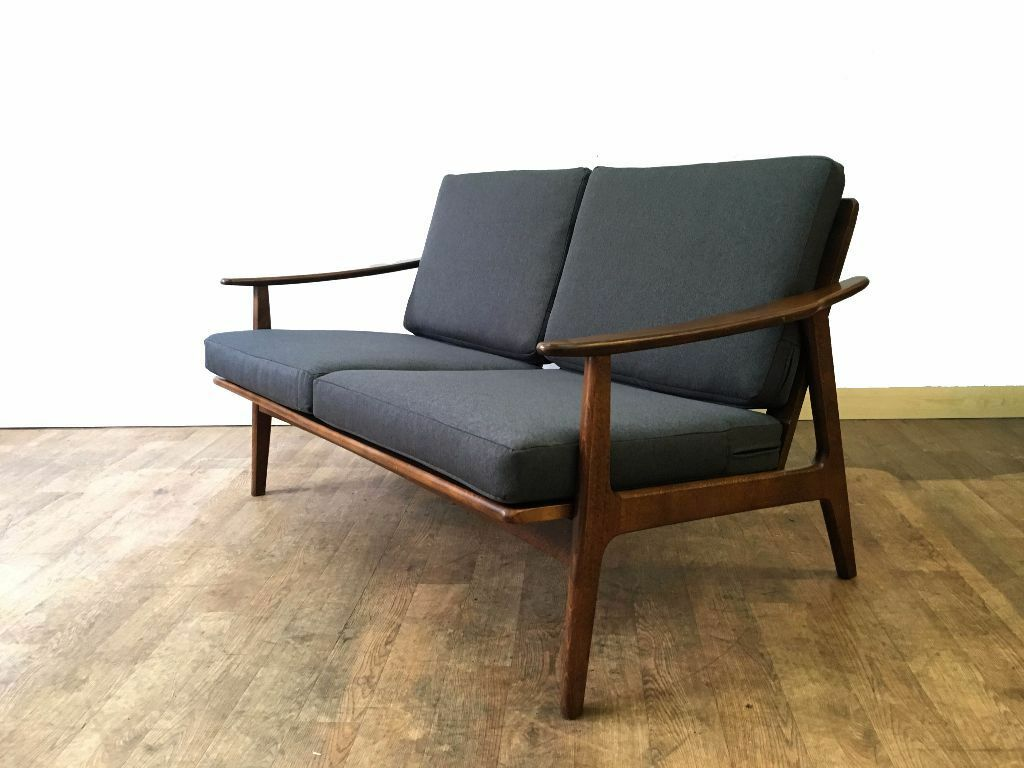 retro danish design two 2 seater sofa vintage mid century modern in west end edinburgh. Black Bedroom Furniture Sets. Home Design Ideas