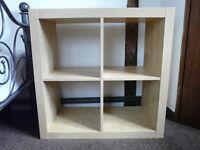 Ikea Kallax birch effect storage unit - 2 available