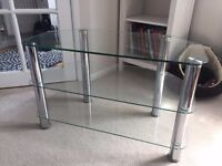 Glass TV 3 Shelf Display Unit
