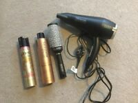 Hair Dryer TRESemme, Nano Brush, and Spray