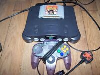 Nintendo 64 N64 Console with Game