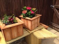 2 x planters , handmade solid and heavy , free delivery