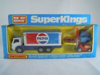 1979 MATCHBOX SUPERKINGS K-40 PEPSI DELIVERY TRUCK & FORK LIFT WITH PALLETS