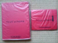 Brand new FCUK Double Fitted Sheet and 2 Matching Pillow cases
