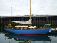 Classic 30' wooden yacht. New survey August '14, built 1973. Excellent sea boat - easy to maintain
