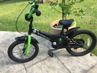 "Trek Jet 16"" Kids Bike Unisex in green including stabilisers"