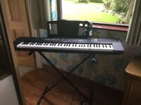 Yamaha piaggero model number NP/V60, excellent condition,rarely used. Foot pedal included.