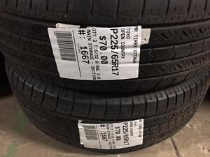 225/65/17 Toyo Open Country *Allseason Tires*