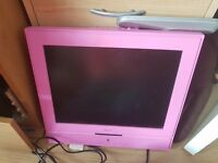 Pink tv with free view