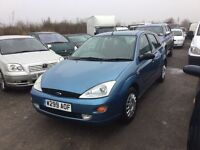 Ford Focus 5 dr hatchback rare 1400 cc model in vgcondition lovely driver in lovely blue CD player