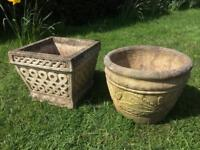 Garden Planters Patio Planter Pots Concrete Stone