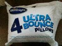NEW Silentnight ultra bounce pillows x 4