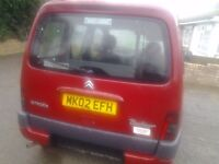 Citroen berlingo with wheelchair access winch and belts