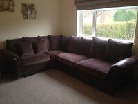 Large scatter cushion corner sofa/settee