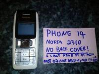 Nokia 2310, missing cover