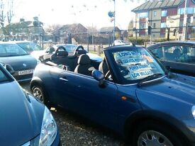 2005 only 46.000 miles mini one convertible full MOT very tidy car inside and out