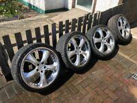 19inch Genuine Kahn Alloys Wheels with Tyres 235/35/19 5x112 Fit Mercedes, Audi, VW **BARGAIN**
