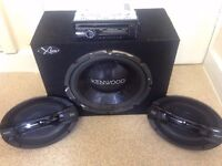 CAR STEREO WITH KENWOOD SUBWOOFER PRICE NEGOTIABLE