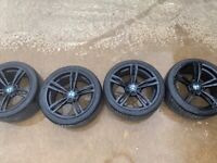 Genuine 437m alloy wheels and tyres m3 m4