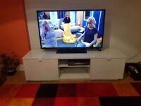 Lovely White IKEA TV Unit