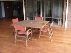 Solid timber Outdoor Table and Chairs Safety Bay Rockingham Area Preview