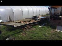 Metal framed trailer for sale, old static home