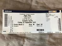 Sigur Ros ticket for Friday 22nd