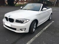 BMW 1 Series Convertible White 2.0 118i Sport 2dr **LOW MILEAGE EXCELLENT CONDITION**
