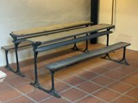 Vintage school / church bench