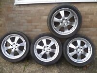 """20"""" Alloy Wheels with Tyres for VW Transporter T5/T6 5x120"""