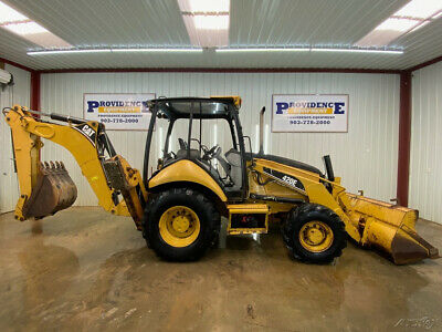 Cat 420e Loader Backhoe With Open Rops With 4x4