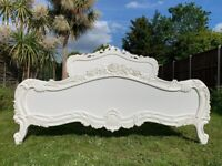 Masterpiece French Antique Style 6FT Super King Bed Frame – Super Condition