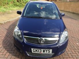 QUICK SALE 2013 VAUXHALL ZAFIRA 1.6 PETROL FULL SERVICE HISTORY ONE YEAR MOT AND TAX