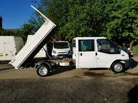 (( NO VAT )) FORD TRANSIT TIPPER LWB , YEAR 2007, LOW MILEAGE , IN GOOD CONDITION IN AND OUT
