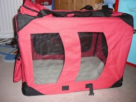 Large Fabric Folding Dog Carrier/Crate