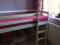Single mid sleeper bed with mattress