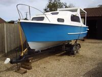 Boat project for sale 22' cabin cruiser just needs small amount of work to finish