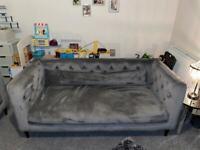 Grey Velvet 2&3 Seater Sofa's