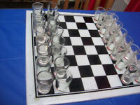 Drinking Glass Chess Set.