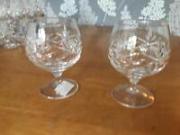 Two Crystal Brandy Goblets