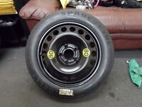 saab 9-3 03-10 spare wheel space saver 125/85/16