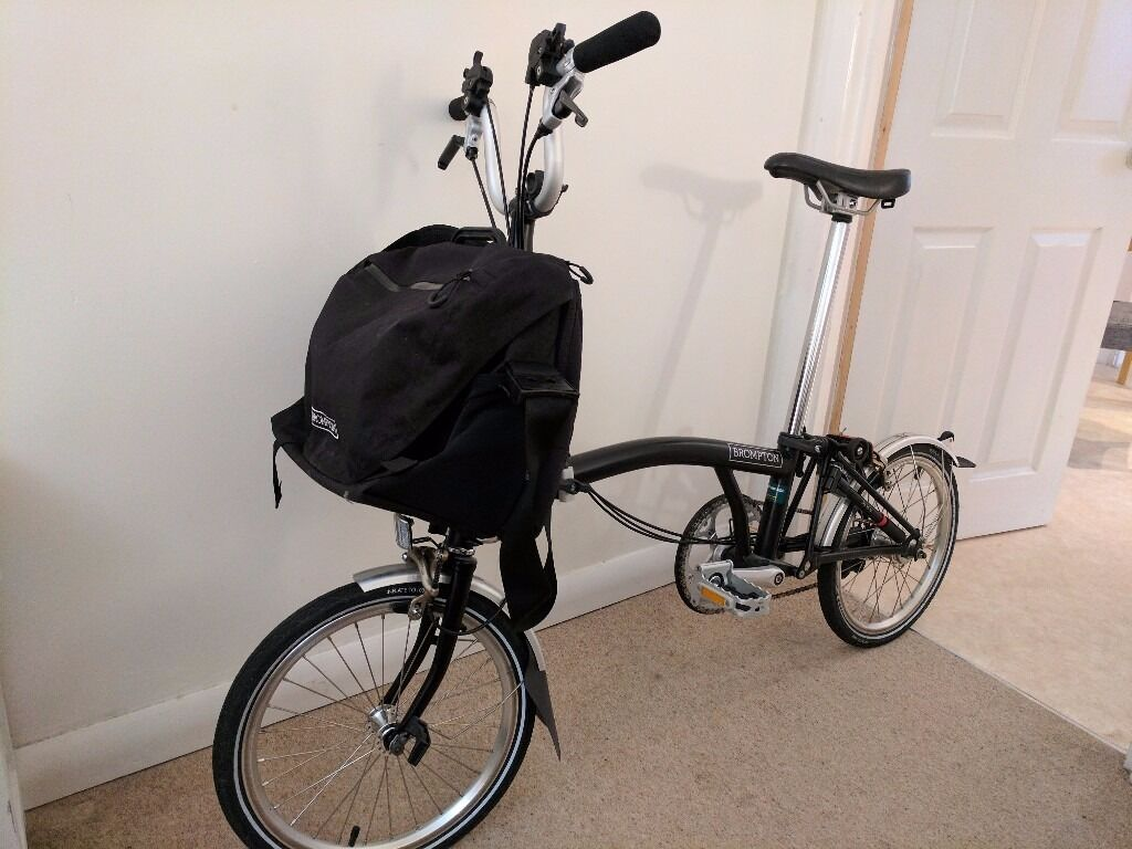 Brompton M6l 2016 Folding Bike Brompton C Bag With Cover And