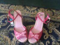 Ladies Shoes / Wedge Open Toe Sandals