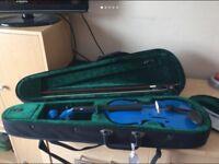 Blue 3/4 violin